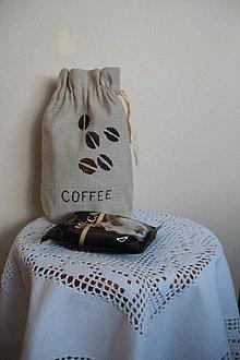Nákupné tašky - Caffe noir - darčekové vrecko na kávu - 4188358_