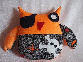 Textil - sova pirát - 4189488_