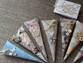 Darčeky pre svadobčanov - Svadobné vrecúška na ryžu - 4190400_