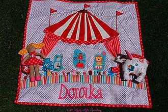 Hračky - Cirkusová hracia deka pre Dorotku - 4191549_