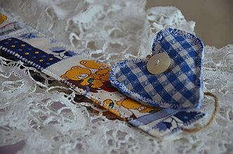 Úžitkový textil - Záložka knižná macko - 4192238_