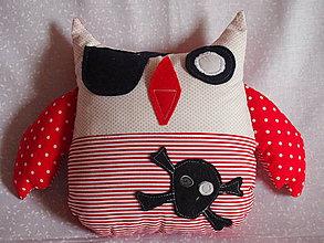 Hračky - Sova  pirát 2 - 4191171_