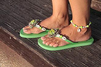 Obuv - Plážová letná súprava - zelená (výpredaj) - 4190337_