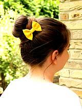 Ozdoby do vlasov - Farby dúhy, žltá. - 4194557_