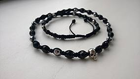 Náhrdelníky - Shambala náhrdelník čierno-strieborný - 4194769_