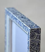 Rámiky - Folklór bielo-modrý - 4200495_