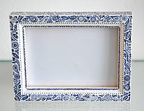 Rámiky - Folklór bielo-modrý - 4200496_