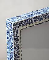 Rámiky - Folklór bielo-modrý - 4200497_