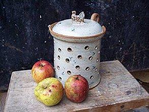 Svietidlá a sviečky - jablečná PEC s ptáčkem - 4200237_