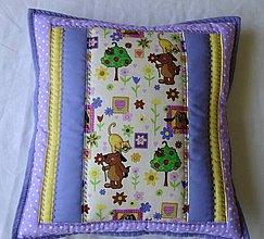 Textil - Vankúš - záhrada vo fialovom - 4200557_