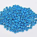 Modré korálky abeceda - veľký balíček 1000ks
