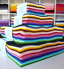 Textil - Filc - veľký balíček 45ks, všetky farby (10x10cm) - 4200115_