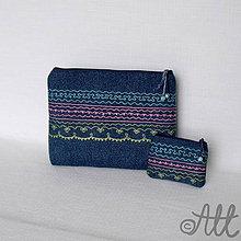 Taštičky - Peňaženka a taštička - set - 4198856_