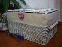Košíky - košík veľký-úložný box - 4203633_
