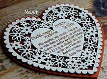 Darčeky pre svadobčanov - Svadobné srdce 4 - Poďakovanie rodičom - 4201236_