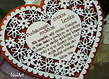 Darčeky pre svadobčanov - Svadobné srdce 4 - Poďakovanie rodičom - 4201237_