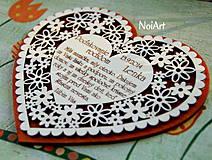 Darčeky pre svadobčanov - Svadobné srdce 4 - Poďakovanie rodičom - 4201238_