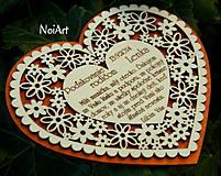 Darčeky pre svadobčanov - Svadobné srdce 4 - Poďakovanie rodičom - 4201239_