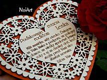 Darčeky pre svadobčanov - Svadobné srdce 4 - Poďakovanie rodičom - 4201240_