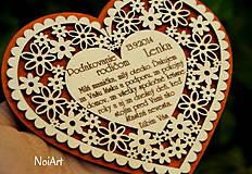 Darčeky pre svadobčanov - Svadobné srdce 4 - Poďakovanie rodičom - 4201242_