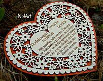 Darčeky pre svadobčanov - Svadobné srdce 4 - Poďakovanie rodičom - 4201249_