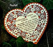 Svadba - Svadobné srdce 4 - Poďakovanie rodičom - 4201256_