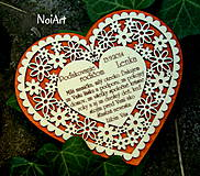 Darčeky pre svadobčanov - Svadobné srdce 4 - Poďakovanie rodičom - 4201256_