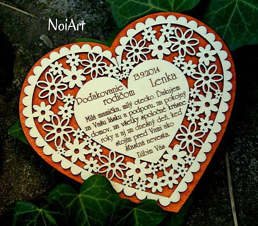 Svadobné srdce 4 - Poďakovanie rodičom
