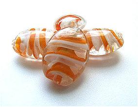 Korálky - Vinutka Twister oranž - 4202181_