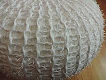 Úžitkový textil - Puf chlpatý biely - 4202658_