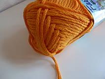 Galantéria - pletacia priadza FASELL tm.žltá  - 4206052_