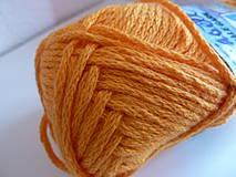 Galantéria - pletacia priadza FASELL tm.žltá  - 4206075_