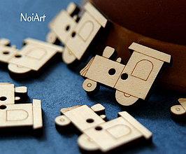 Materiál ručne robený - Gombíček VLÁČIK 2,5 cm - 4204524_