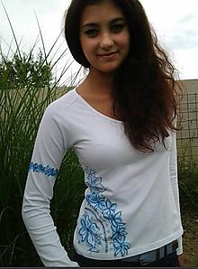 Tričká - Tričko - Modré oživenie - 4205725_