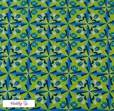 Textil - ÚPLET - zelené diamanty - 4204974_
