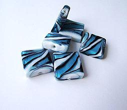 Korálky - Vinutka Nemo blue square - 4205461_