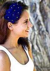 Ozdoby do vlasov - textilná čelenka s kvetmi - fialka - 4205164_