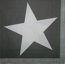 "Papier - Servítka ""Pure star grey"" - 4205847_"