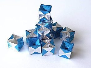 Korálky - Aluminio Azuro cube - 4207914_