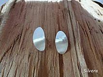 Náušnice - Stříbrné naušnice 925 Ovales givrés - 4213120_