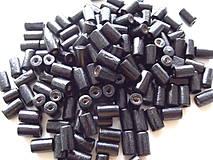 Čierne drevené valčeky 8x4mm