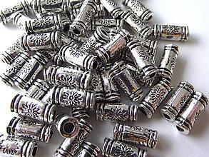 Korálky - Kovové valčeky Fioretto - 4209737_