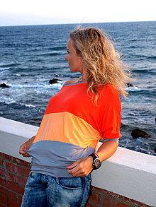 Tričká - Obľúbené ,,orange,, tričko aj s viskózy - 4211181_
