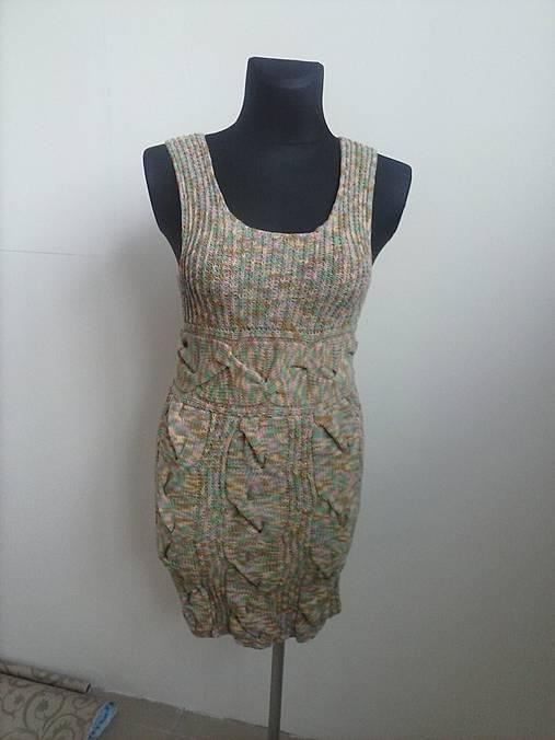d53bb4468bc Pletene šaty - melirované skladom   terai - SAShE.sk - Handmade Šaty