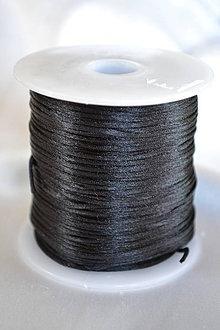 Galantéria - Šnúrka saténová čierna, 1mm, 0.17€/meter - 4210903_