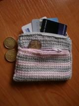 Peňaženky - Peňaženka ružovo-sivá - 3622512_