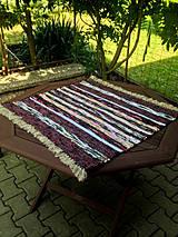 Úžitkový textil - Rohožka bordó 75x72cm - 4210503_
