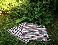 Úžitkový textil - Červený pásik 170x73cm - 4210533_