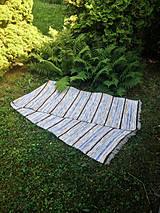 Úžitkový textil - Žlto-modrá variácia 150x73cm - 4210571_