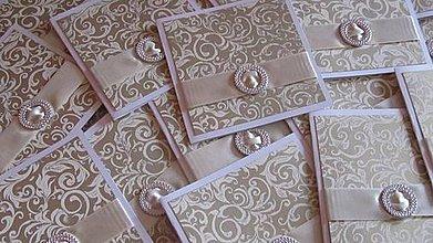 Papiernictvo - Elegantné svadobné oznámenie - 4214803_
